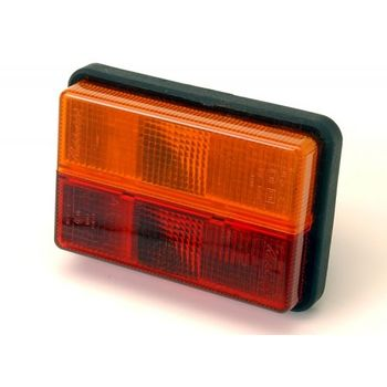 Maypole 12v Rubber Combi Lamp S/t/i - Trucklite 340/01/00