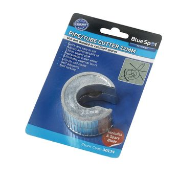 BlueSpot 22mm Pipe And Tube Cutter With Extra Blade