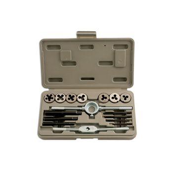 Laser Tools Metric Tap & Die Set 16pc
