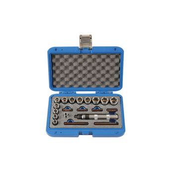 """Laser Tools Damaged Nut and Screw Remover Set 3/8""""D 20pc"""