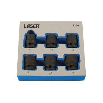 "Laser Tools Damaged Nut/Bolt Remover Tools 1/2""D 6pc"