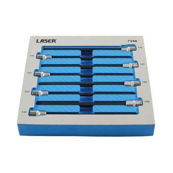 "Laser Tools Star Bit Set  3/8""D 8pc"