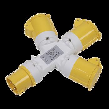 2P+E 3-Way Adaptor 110V